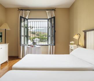 Double room with swimming pool views ilunion mijas hotel